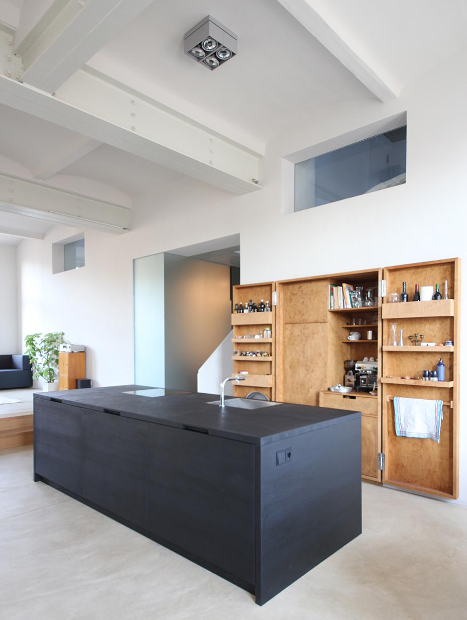 nischenschrank k che swalif. Black Bedroom Furniture Sets. Home Design Ideas