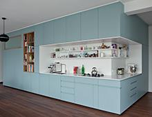 Wohnung Bernauer Strasse – Küche, Einbauschränke, Wandverkleidung